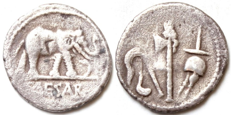 Római Köztársaság Julius Caesar ie. 49 denár RR!