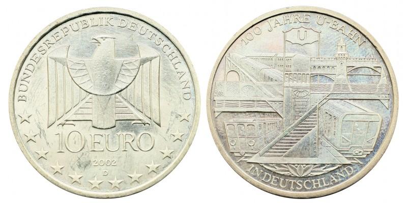 Németország 10 EURO 2002 BU földalatti vasút 100.évforduló