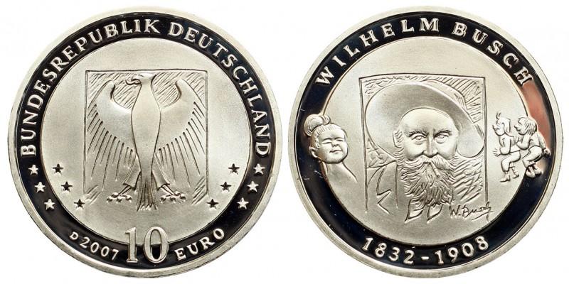 Németország 10 EURO 2007 PP Wilhelm Busch