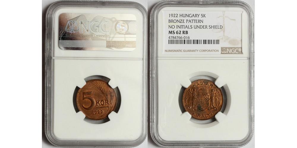 5 korona 1922 Próbaveret