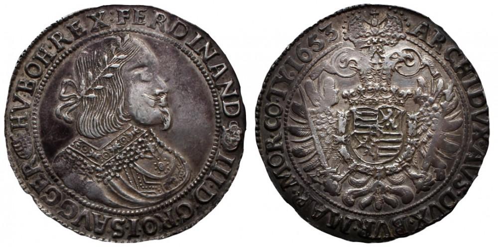 III. Ferdinánd tallér 1653 KB