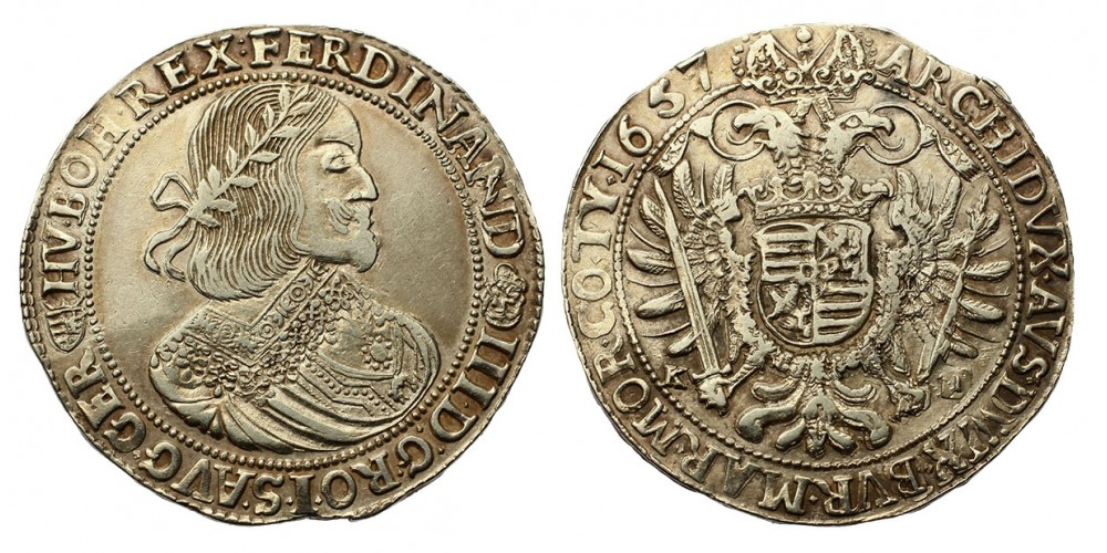 III. Ferdinánd tallér 1657 KB