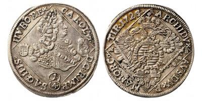 III.Károly 1/4 tallér 1725 NB