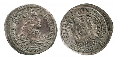 III.Károly 3 krajcár 1724 Graz