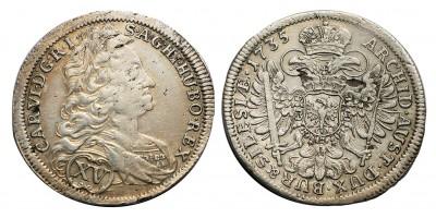Karl VI. XV kreuzer 1735 Breslau