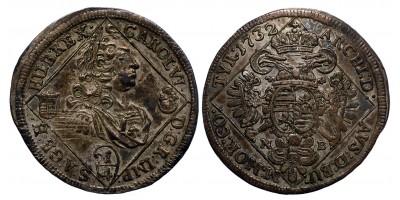 III.Károly 1/4 tallér 1732 NB.