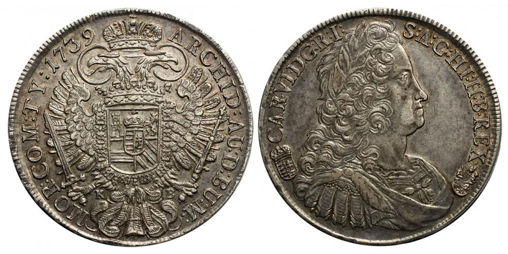 III.Károly  tallér 1739 KB.