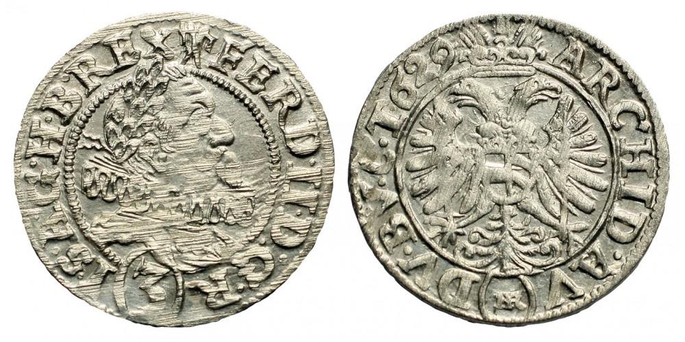 II.Ferdinand 3 krajcár 1629 Breslau