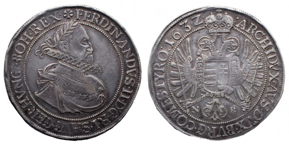 II. Ferdinánd tallér 1632 NB