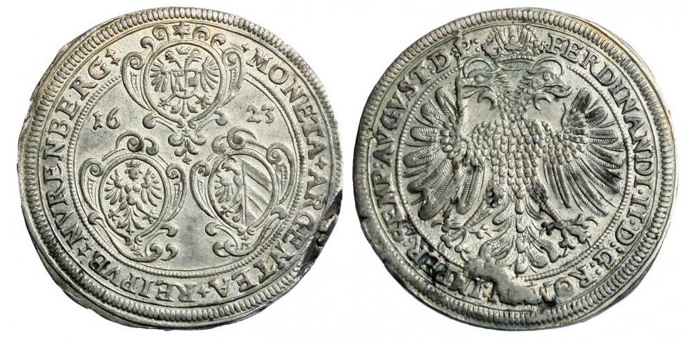 II.Ferdinánd tallér 1623 Nürnberg