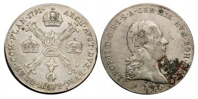 II.Lipót 1/4 koronatallér 1791 A