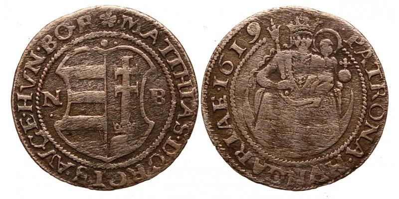 II.Mátyás (1608-1619) garas 1619 NB