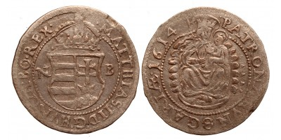 II.Mátyás (1608-1619) garas 1614 NB