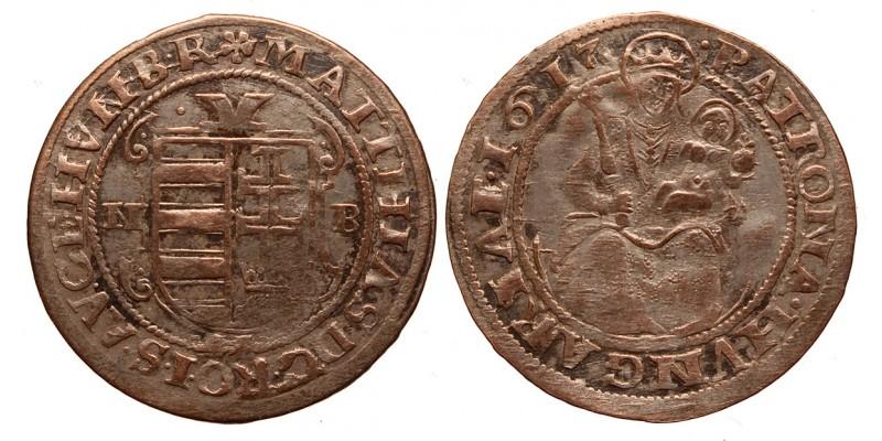 II.Mátyás (1608-1619) garas 1617 NB