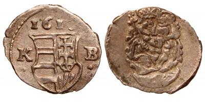 II.Mátyás (1608-1619) obolus 1618 KB