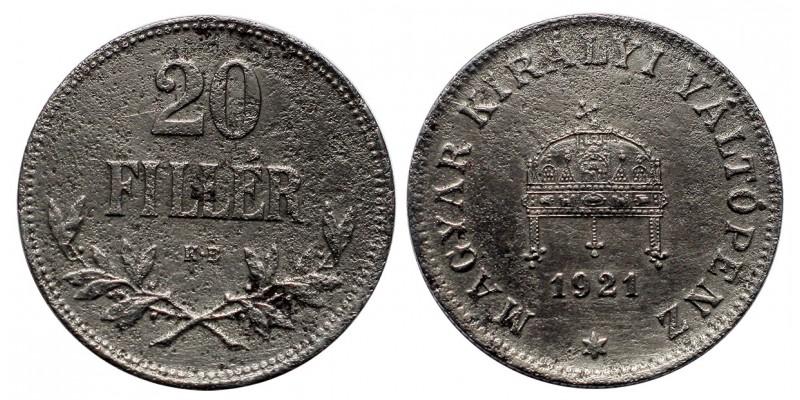 20 fillér 1921 KB.