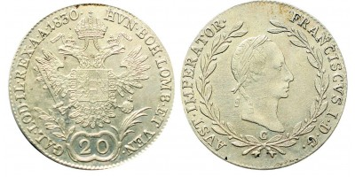 I.Ferenc 20 krajcár 1830 C