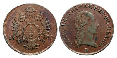 I.Ferenc 1/2 krajcár 1800 B