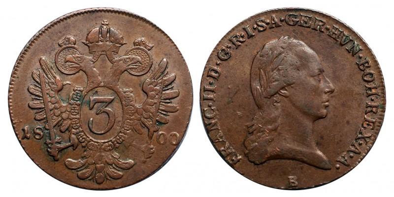 I.Ferenc 3 krajcár 1800 B