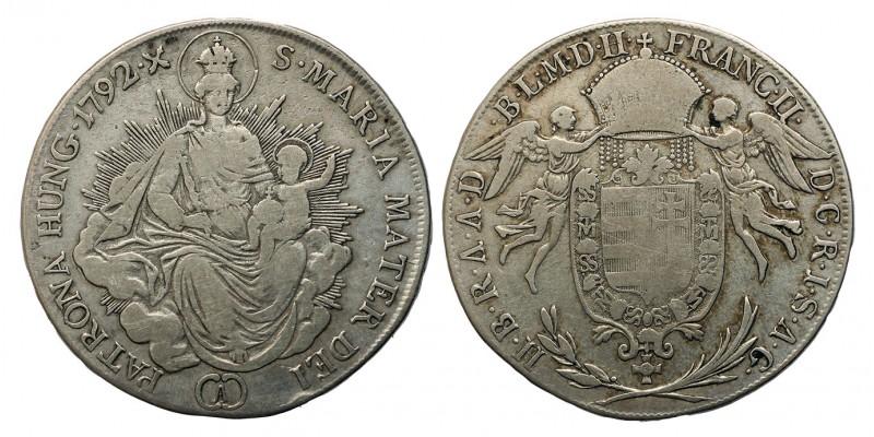 I.Ferenc 1/2 tallér 1792 A