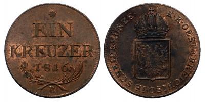 I.Ferenc krajcár 1816 B