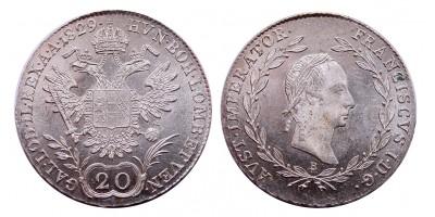 I.Ferenc 20 krajcár 1829 B