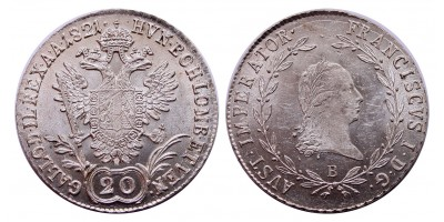 I.Ferenc 20 krajcár 1821 B