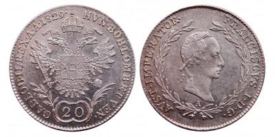 I.Ferenc 20 krajcár 1829 A