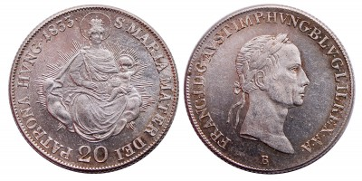 I.Ferenc 20 krajcár 1833 B