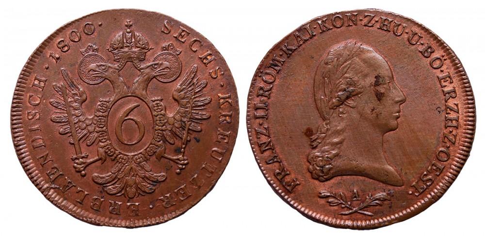 I.Ferenc 6 krajcár 1800 A