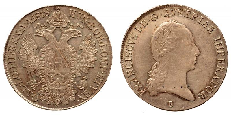 I. Ferenc 1/2 tallér 1818 B