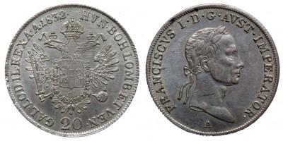 I.Ferenc 20 krajcár 1832