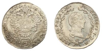 I. Ferenc 5 krajcár 1818 A