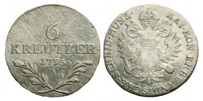 I.Ferenc 6 krajcár 1795 A