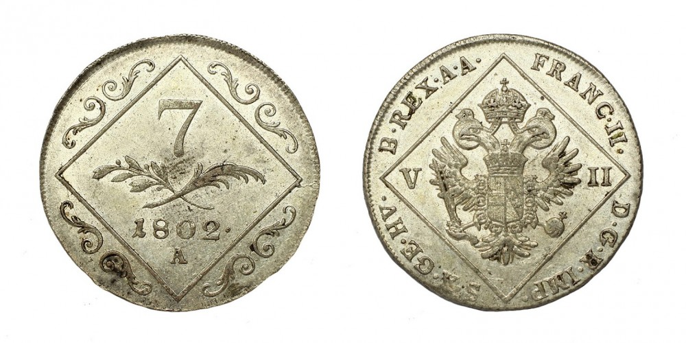 I.Ferenc 7 krajcár 1802 A