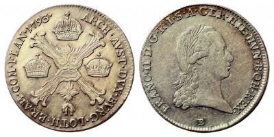 Ferenc I. 1/4 koronatallér 1793 B