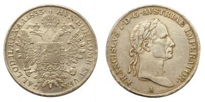 I.Ferenc 1/2 tallér 1833 A