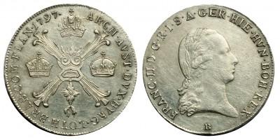 Ferenc I. 1/4 koronatallér 1797 B