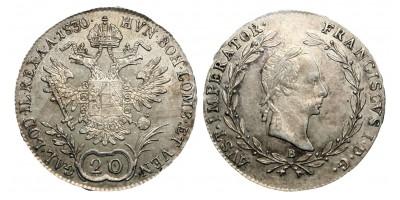 I.Ferenc 20 krajcár 1830