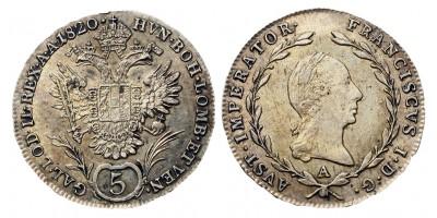 I. Ferenc 5 krajcár 1820 A