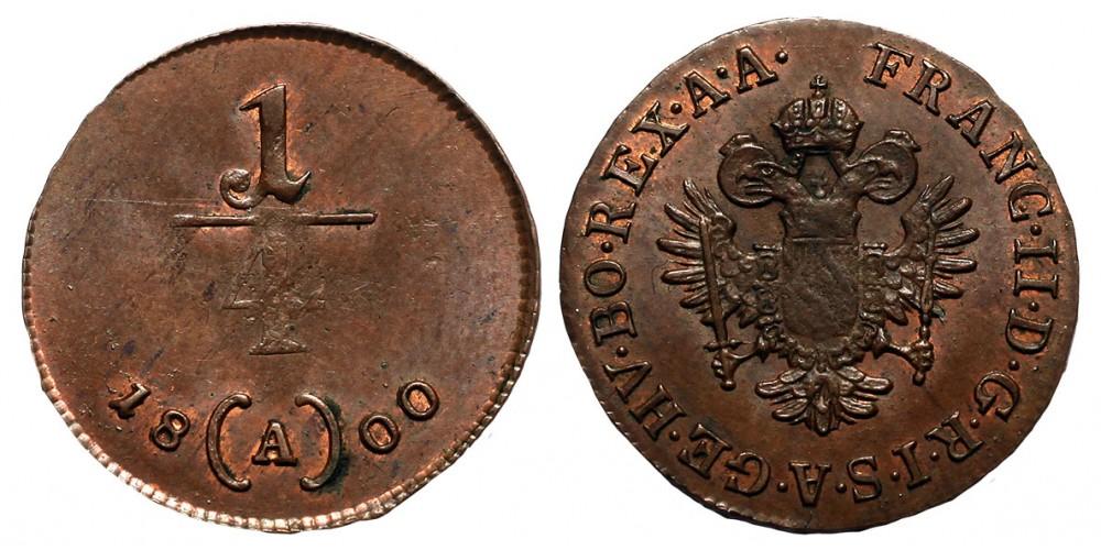 I.Ferenc 1/4 krajcár 1800