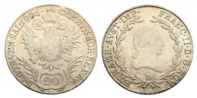 I.Ferenc 20 krajcár 1806 B