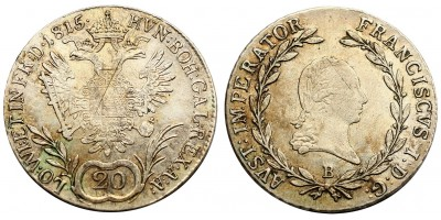 I.Ferenc 20 krajcár 1815 B