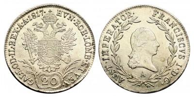 I.Ferenc 20 krajcár 1817 A