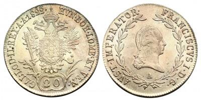 I.Ferenc 20 krajcár 1822 A