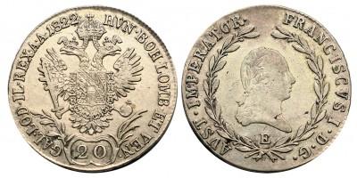 I.Ferenc 20 krajcár 1822 E