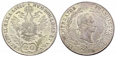 I.Ferenc 20 krajcár 1829 E R!
