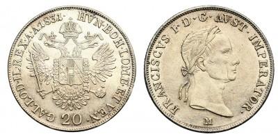 I.Ferenc 20 krajcár 1831 M