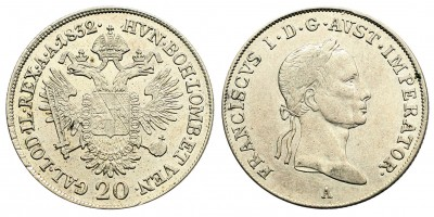 I.Ferenc 20 krajcár 1832 A