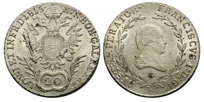 I.Ferenc 20 krajcár 1815 G